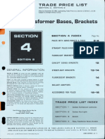 Revere Trade Price List - Poles, Transformer & Brackets 1966