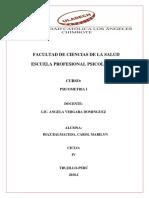 Condiciones de La Evaluacion Psicologica - Psicometria i - Marilyn