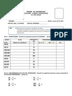 Prueba Razones y Proporciones 6 Basico