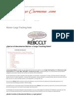 Comercio Exterior Waiver-Cargo Tracking Note