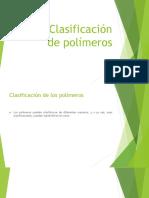 Clasificación de Polimeros