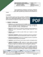 TH-Pr16 Procedimiento Requisitos Legales en Seguridad y Salud en El Trabajo V1