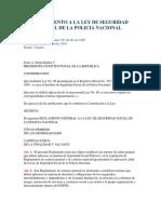 Reglamento a La Ley de Seguridad Social de La Policia Nacional (1)