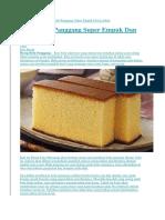 Home Kue Basah Resep Bolu Panggang Super Empuk Dan Lembut