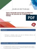 Desarrollo de Las Fases de Métodos Alternos de Solución de Conflictos de Trabajo.