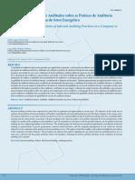 Percepção de Auditores e Auditados Sobre as Práticas de Auditoria Interna (Setor Energético)