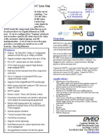 Mavio 4K IP IP HEVC Live Out Datasheet