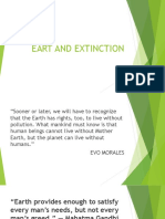 Eart and Extinction