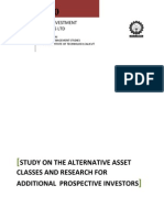 Study on Alternative Asset Classes and Research on Prospective Investor Sh