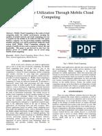Optimum Power Utilization Through Mobile Cloud Computing