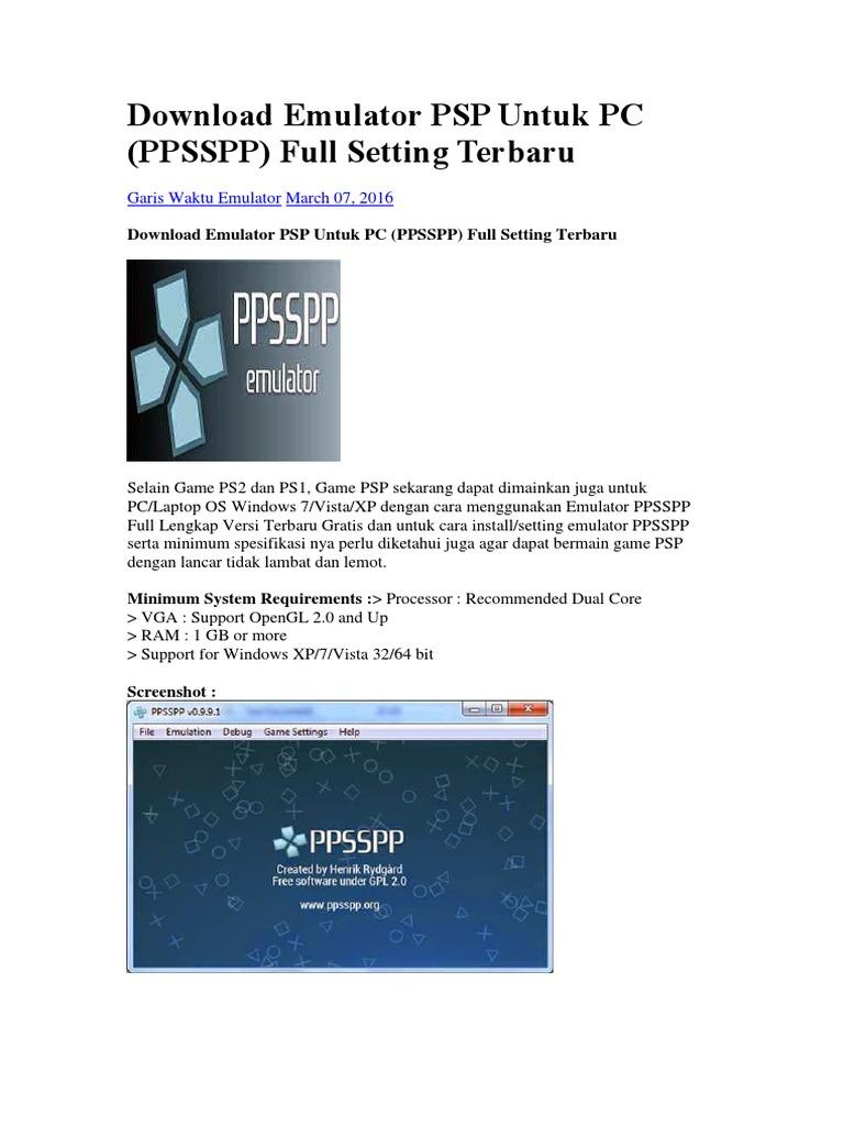 free psp emulator for windows 7