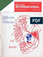 Revista Internacional. Edicion Chilena. Nuestra Epoca N°5. Mayo 1976.