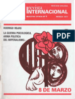 Revista Internacional. Edicion Chilena. Nuestra Epoca N°3. Marzo 1977