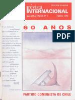Revista Internacional. Edicion Chilena. Nuestra Epoca N°1. Enero 1982