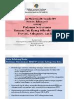 Permen 1_2018_Ped Penyusunan RTRW Prov-Kab-Kota