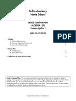 Algebra 1 Foerster 2014 Semester Sample