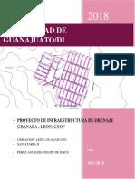 Proyecto de Infraestructura de Drenaje Granada , León, Gto
