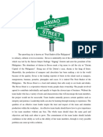 DAVAO Street Paper Output