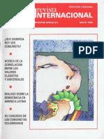 Revista Internacional. Edicion Chilena. Nuestra Epoca N°5. Mayo 1989