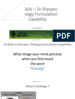 10 skills to sharpen strategy formulation capability