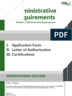 PFDA 2014-003 Administrative Requirements Slide