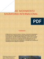 Turismo Movimiento Migratorio Internacional