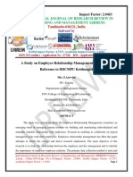 A Study on Employee Relationship Management With Special Reference to DDCMPU Krishnagiri