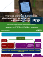 'Improved awareness & information dissemination in agriculture - role of mobile and radio technologies' by Lucy Karanja et al