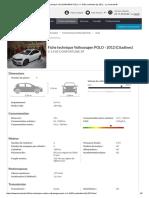 Fiche Technique Volkswagen Polo v 1