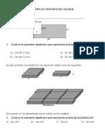 Examen de Matematicas 1 Bloque