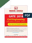 Gate 2018 shift 2 civil engg solution