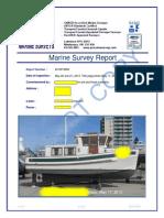 Sample Sundowner 30 Trawler Survey