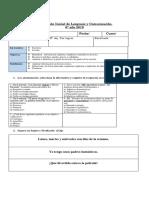 Evaluación Inicial de Lenguaje 6