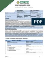 Silabo Quimica Tecnicas (Nivelación Espe)