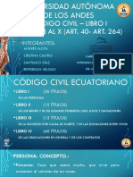 Codigo Civil - Libro i - Titulo i Al x (Art. 40 - Art. 264)