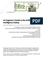 An Engineer's Guide to the Artificial Intelligence Galaxy - The Big Picture
