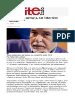 Lettre Aux Musulmans Tahar Ben Jeloum