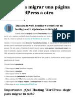 Guía para migrar una página web WordPress a otro servidor