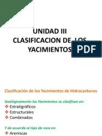 Unidad II Clasificacion de Los Yacimientos