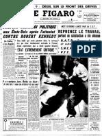 L'assassinat de Robert Kennedy dans Le Figaro