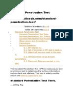 Standard Penetration Test