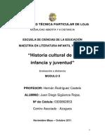 Historia Cultural de La Infancia y Juventud