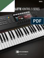 Komplete Kontrol s Series Mk2 Sw 1 9 1 Manual English