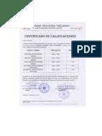 Certificado de Calificasiones
