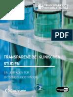 Transparenz Bei Klinischen Studien Ein Leitfaden Fuer Entscheidungstraeger 2018