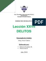 LECCIÓN XXVI DELITOS