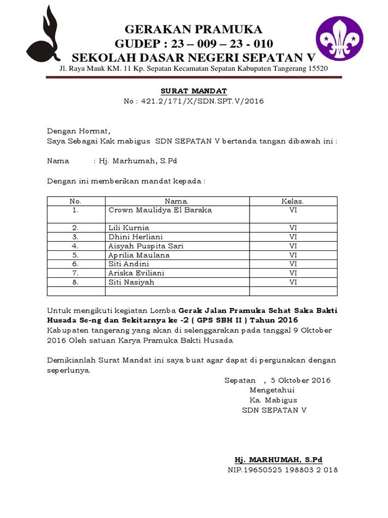 335682179 Surat Mandat Bindamping Pramukadocx