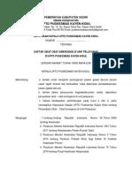 Sk Daftar Obat-obat Emergensi Di Unit Pelayanan