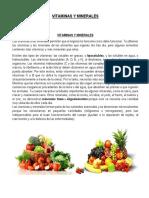 CTA Vitaminas y Minerales.