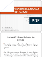 Normas Técnicas Relativas a Los Pasivos - Contabilidad Pública